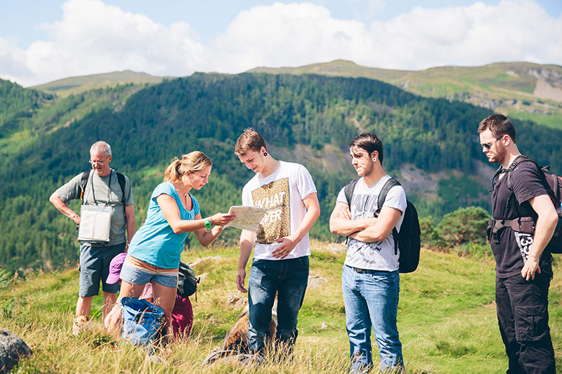 Lake District navigation course learning map and compass skills