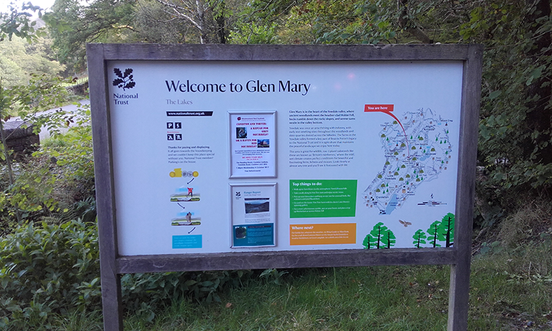 Glen Mary National Trust car park