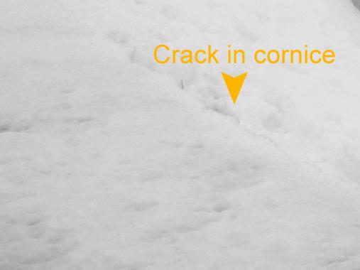 Cornice cracks