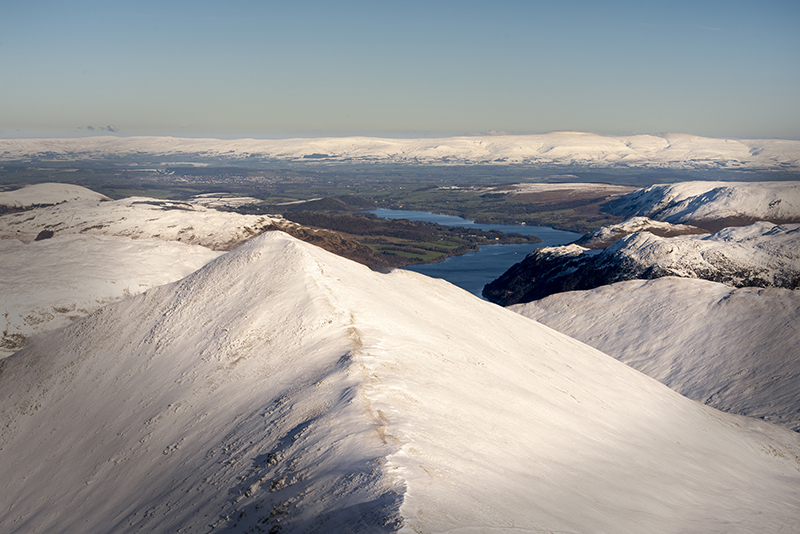 A view from the top of Helvellyn